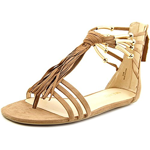 Nine West Women's Emberly Synthetic Gladiator Sandal, Natural, 6 M (Nine West Gladiator Sandals)