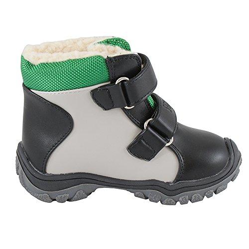 STIEFELETTEN WINTERSTIEFEL SCHUHE Jungen Schnee Klettverschluss WARM (11667) Grün