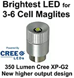 Maglite LED Conversion Upgrade Cree XP-G2 300 Lumen Bulb 3 - 6 D or C Cell Flashlights by UpLED