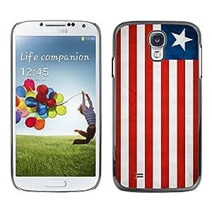 Shell-Star ( National Flag Series-Liberia ) Snap On Hard Protective Case For Samsung Galaxy S4 IV (I9500 / I9505 / I9505G) / SGH-i337