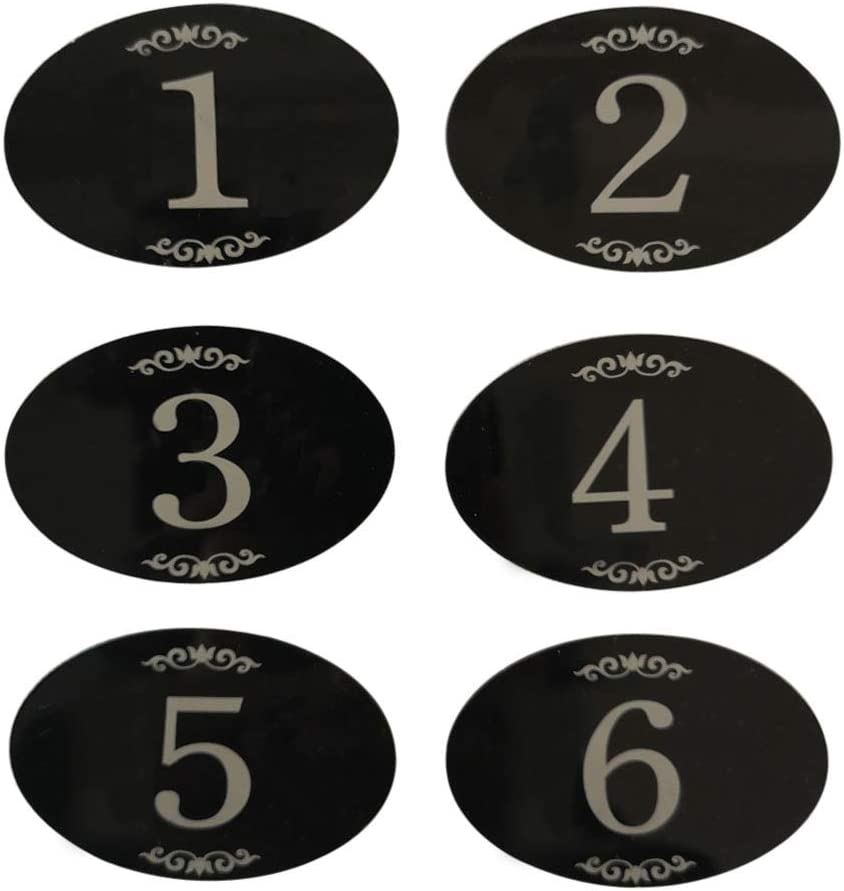 StayMax Locker Number Signs Door Sign with Self-Adhesive Tape Number Black (1-25)