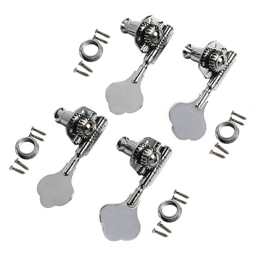 1set of 4pcs 4R Jazz P Bass Replacement Chrome Tuning Keys Pegs Machine Head Tuners