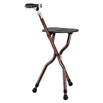 Exceptionnel Gu0026M Adjustable Folding Walking Cane Chair Stool Massage Walking Stick With  Seat Portable Fishing Rest Stool