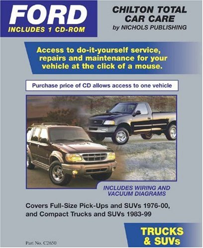Download FORD Trucks & SUVs 1976-00 (CD-ROM in Jewel Case) (Total Car Care) pdf epub