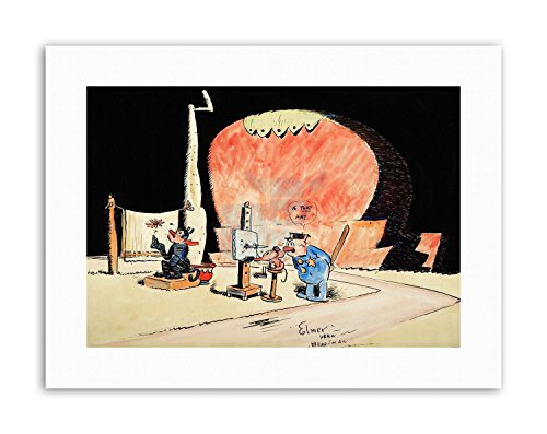 KRAZY KAT WITH DAISY MOUSE GEORGE HERRIMAN CARTOON COMIC Poster Canvas art Prints (Daisy Krazy)
