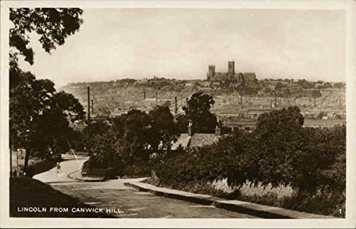 City and Cathedral from Canwick Hill Lincoln, England Original Vintage - Images Lincoln Of City