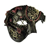 Bauer Pacific Elaborate Steampunk Style Half Face Phantom Adult Costume Mask
