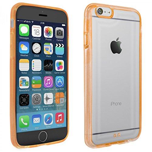 9b42d54f713 eFabrik Schutztasche für Apple iPhone 6S Hülle orange TPU Silikon Schutz  Cover Handy Case