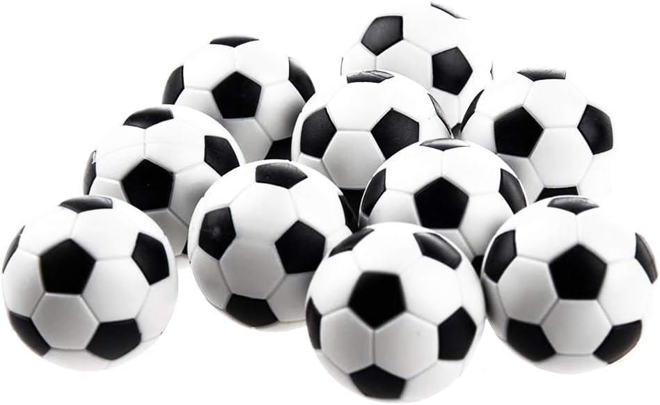 Naisicatar Reemplazo 6Pcs Mini balones de plástico Bola de Mesa Juego de fútbol Negro y Negro Juguete Interesante