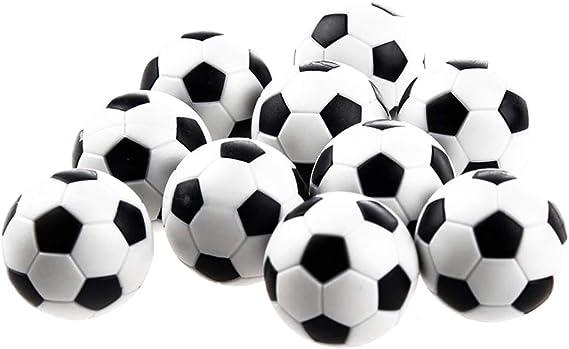 Naisicatar Reemplazo 6Pcs Mini balones de plástico Bola de Mesa Juego de fútbol Negro y Negro Juguete Interesante: Amazon.es: Juguetes y juegos