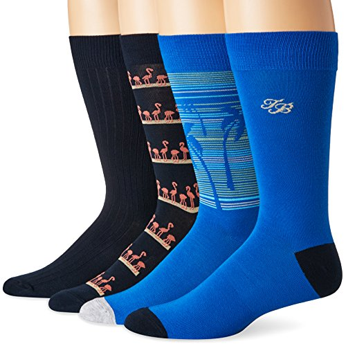 Tommy Bahama Men's Casual 4 Pack, Flamingo Palm, Sock Size:10-13/Shoe Size: 6-12 (Tall Tommy And Clearance Bahama Big)