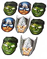 Marvel Avengers Hats/ Masks 8 Count Party Supplies