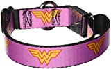 Buckle Down Seatbelt Buckle Dog Collar – Wonder Woman Logo Pink – 1″ Wide – Fits 15-26″ Neck – Large Review