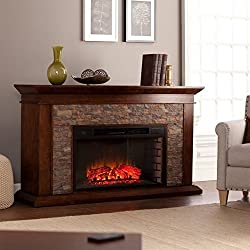 Southern Enterprises Canyon Heights Electric Fireplace Whiskey Maple by BRAND NOT SPECIFIED