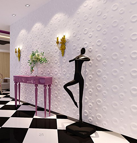 Decorative Wall Textures - Art3d 43 Sq.Ft 3D Boards Decorative Wall Coverings for Interior Design, White