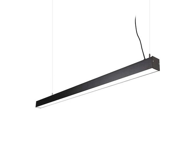 LED Lámpara colgante gris grafito aluminio 4000 K 4800lm ...