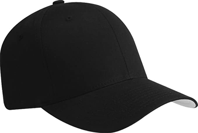 6ee3f79a Image Unavailable. Image not available for. Color: Flexfit Blank V Twill  Fitted Hat Cap ...