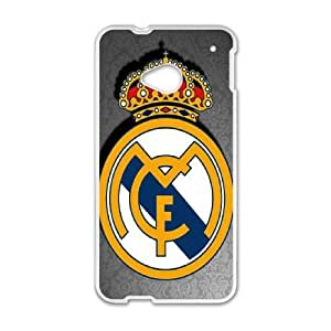 Real Madrid Logo 002 HTC One M7 Cell Phone Case White Protective Cover