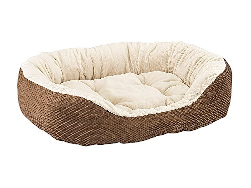 Ethical Pets Sleep Zone Checkerboard Napper Pet Bed, 31″, Chocolate For Sale