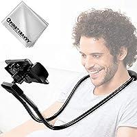 first2savvv Lazy Halterung Handyhalter, Upgrade-Version Schwanenhals Halter Universal Ständer für iPhone iPad Smartphone Handy Tablet 360 Grad Drehen