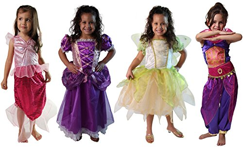 Classic Storybook Princess Dress 4 Pack Set (4/6, (Princess Dress Up Trunk)