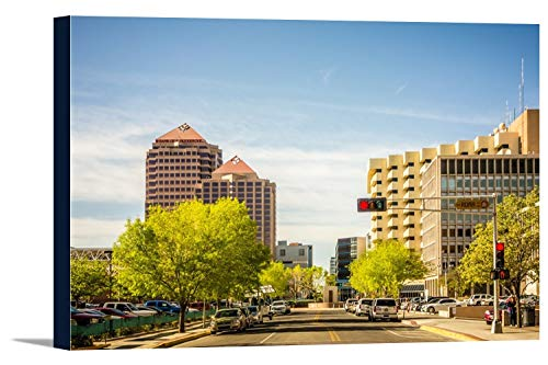 Albuquerque, New Mexico Downtown Photograph A-89914 (18x12 Gallery Wrapped Stretched Canvas)