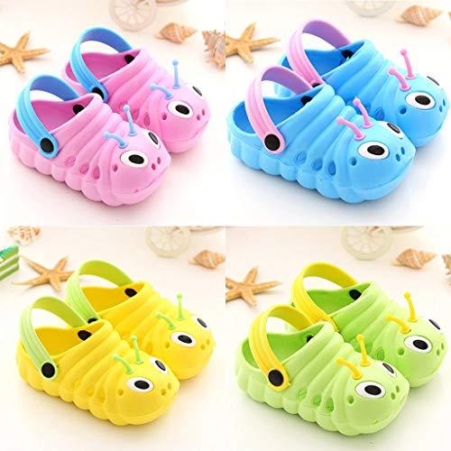 FIRERO Baby Sandals Summer Kids Girls Boys Cute Shoes Cartoon Sandals Children Caterpillar Non-Slip Beach Slipper