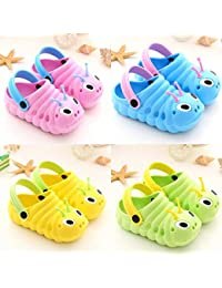 uookboy Baby Boys Slippers Summer Unisex Toddler Boys Girls Cute Cartoon Clogs Beach Sandals Slippers Flip Outdoor Shoes