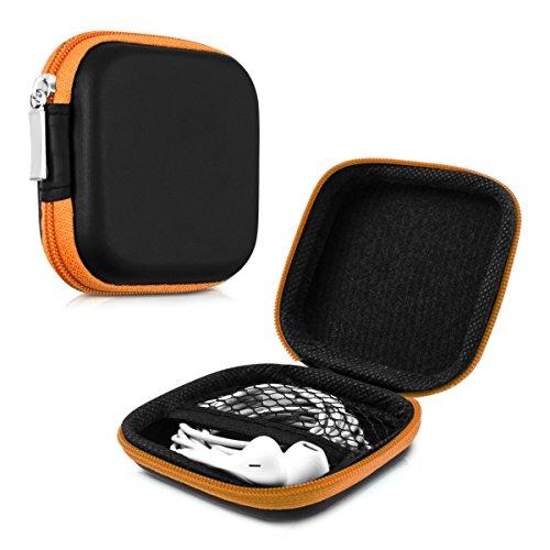 kwmobile Robuste Tasche Case für Kopfhörer in Orange - Hochwertige Schutzhülle für Ihre Kopfhörer