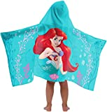 Disney Princess The Little Mermaid Super Soft & Absorbent Kids Hooded Bath/Pool/Beach Towel, Featuring Ariel - Fade Resistant Cotton Terry Towel, 22.5'' Inch x 51'' Inch (Official Disney Product)