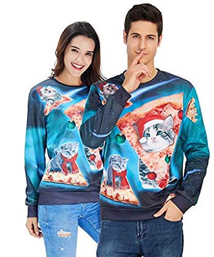 Sweatshirt A Unisex À Manches Uideazone Imprimé Pulls Shirt Galaxy Pullover Longues 3d w7 4t4ZRq