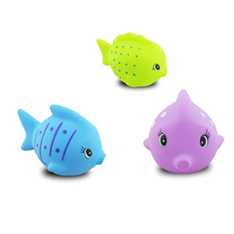 Amazon.com: TOYMYTOY 6pcs Fish Bath Toys Baby Bathtime Fun Toys Swimming Bathtub Pool Squirts Float Toys: Toys & Games