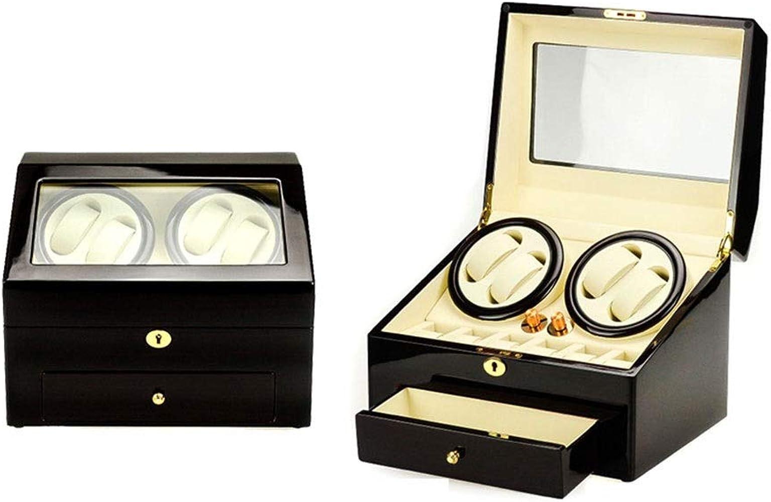 Cajas Giratorias para Relojes Automatico, 5 Modo De Rotacion, 4+6 Watches Storage Box con 1 Cajón (Color : Blanco): Amazon.es: Relojes