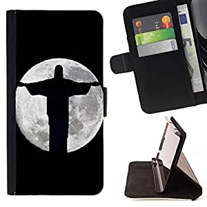 - OMG God Cross Jesus - - Monedero PU titular de la tarjeta de cr?dito de cuero cubierta de la caja de la bolsa FOR Apple Iphone 5C Retro Candy