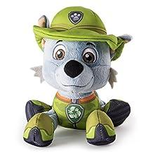 "Paw Patrol, Jungle Rescue, 8"" Plush, Rocky"