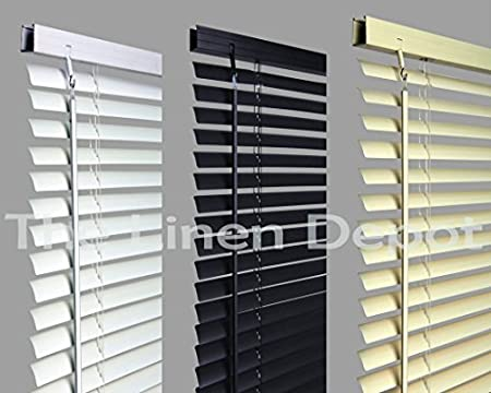 Umlout 120cm White Pvc Venetian Blinds Available In 10 Sizes And 3