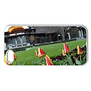 tulip in the field - Case Cover for iPhone 5 and 5S (Flowers Series, Watercolor style, White)