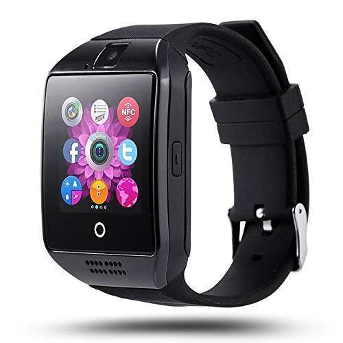 Smart Watch with Camera, Aosmart Q23 Bluetooth Smartwatch with Sim Card Slot Fitness Activity Tracker Sport Watch for Android Smartphones (Black)