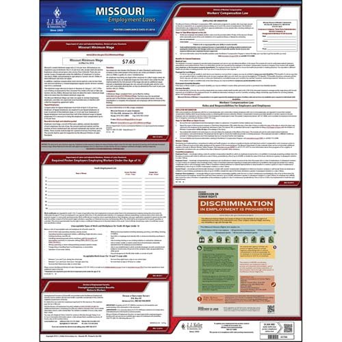 - Missouri & Federal Labor Law Posters - State Only Poster (English)