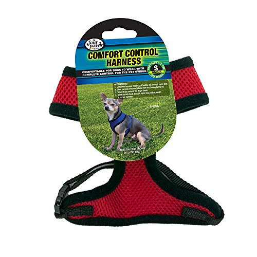 Control Comfort Pet Harness (Four Paws Small Red Comfort Control Dog Harness)