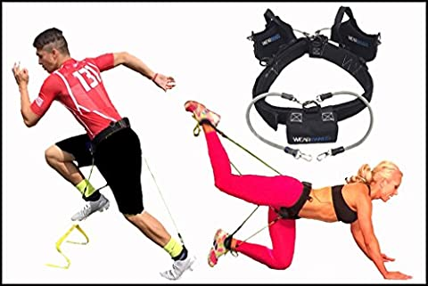 WearBands 5-Band Resistance Bands Training System for Sports, Fitness, Physique & Booty Building, Rehab, Conditioning, Weight Loss, Home and Travel Fitness (Sock S Bands Tier (Beginner Rebounder Dvd)