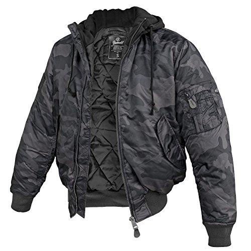 Brandit Negro Sweathood Chaqueta MA1 Darkcamo rq7prX
