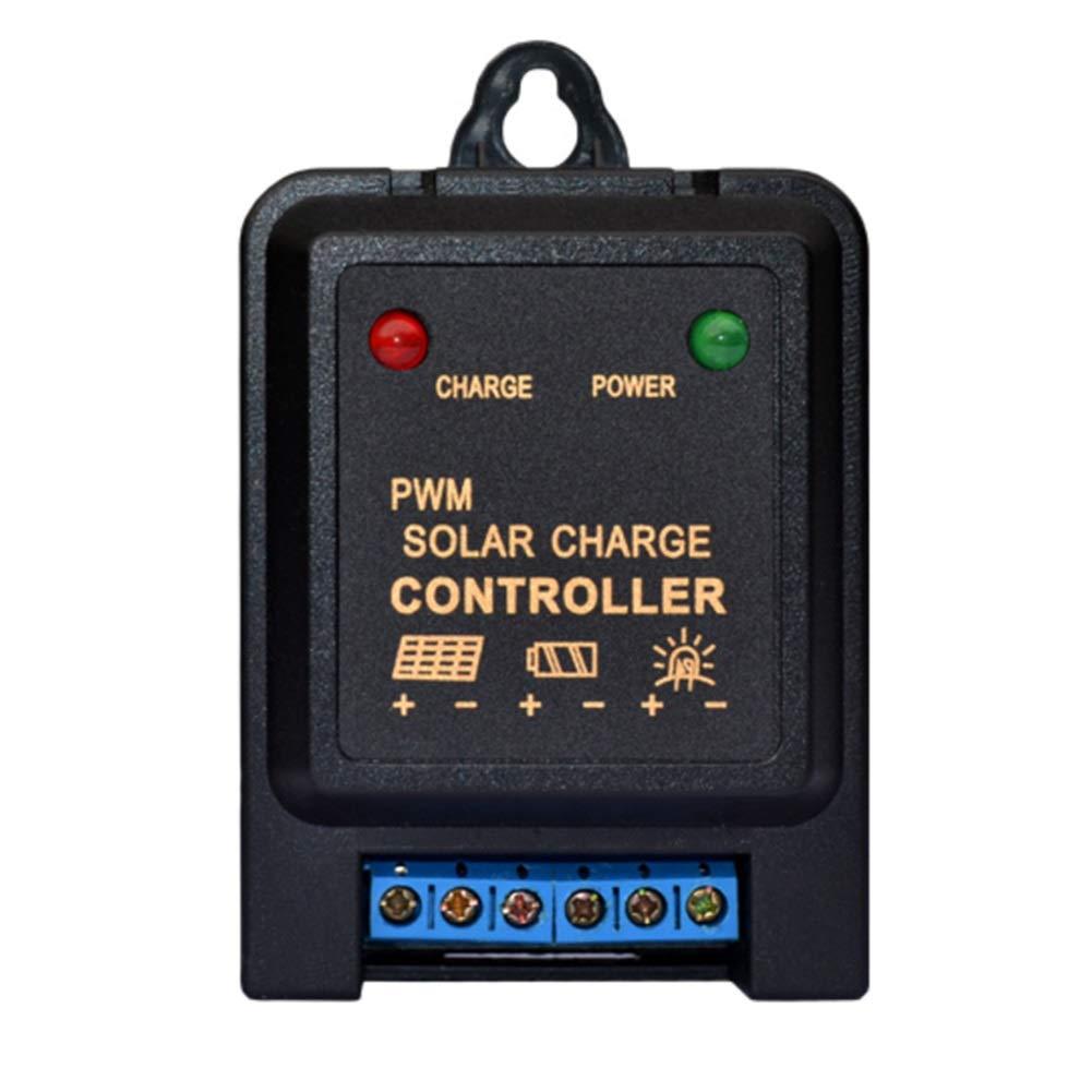 ソーラーパネル用 ジャージコントローラー PWM 3A/5A 6V/12Vオート ソーラーパネル充電コントローラー リチウムイオン/鉛蓄電池用 ミニバッテリ充電コントローラー レギュレータ (Color : 6V, Size : 3A)   B07NQGBP2W