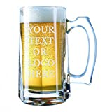 Giant Custom Beer Mug 28 Ounces Personalized Beer Stein - Personalized Add Your Own Engraved Text Customizable Gift