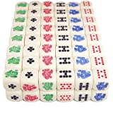 100 (One Hundred) 16mm 6-Sided Poker Dice, Perfect for Poker Games and Card Games.