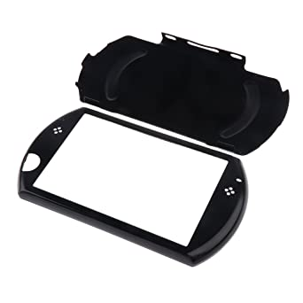 OSTENT Protector Aluminum Travel Carry Hard Shell Case Cover Skin Pouch Compatible for Sony PSP GO Color Black