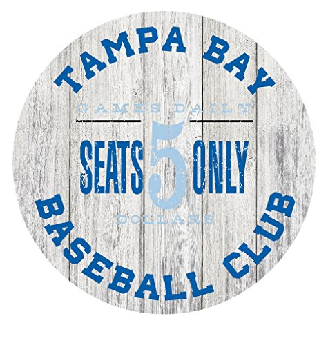 Tampa Bay Baseball Club Circle Metal Sign Blue/Light Blue - 11.75