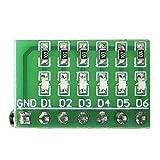 Indicator Board, DC 3.3V 5V 12V 6 Bits Blue LED Module Display Indicator Board for MEGA2560 UNO AVR FPGA MCU DIY LED Board Best Choice