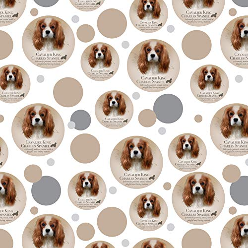 GRAPHICS & MORE Cavalier King Charles Spaniel Dog Breed Premium Gift Wrap Wrapping Paper Roll