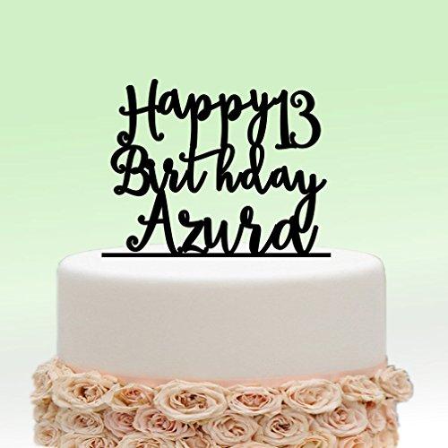 Awe Inspiring Ivisi Personalized Birthday Cake Topper Monogram Decoration Birthday Cards Printable Opercafe Filternl